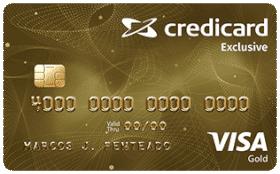 Cartão de Crédito Credicard Exclusive Visa Gold