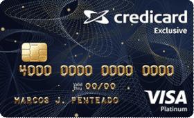 Cartão de Crédito Credicard Exclusive Visa Platinum