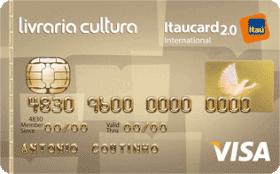Cartão de Crédito Livraria Cultura Itaucard 2.0 Internacional Visa
