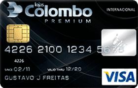 Cartão de Crédito Lojas Colombo Visa Internacional