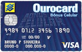 Cartão de Crédito Ourocard Bônus Celular Visa International