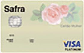 Cartão de Crédito Safra Visa Platinum Mulher