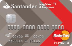 Cartão de Crédito Santander Negócios & Empresas Platinum