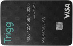 Cartão de Crédito Trigg Visa Internacional Preto