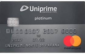 Cartão de Crédito Uniprime Platinum Mastercard