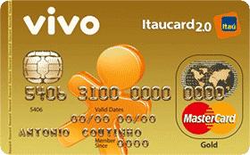 Cartão de Crédito VIVO Itaucard 2.0 Gold MC Pós