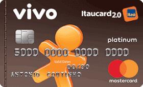 Cartão de Crédito VIVO Itaucard 2.0 Platinum MasterCard Pós