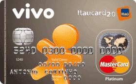 Cartão de Crédito VIVO Itaucard 2.0 Platinum MasterCard Pré
