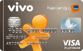 Cartão de Crédito VIVO Itaucard 2.0 Platinum Visa Pós