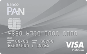 Cartão PAN Visa Platinum