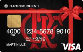 Cartão Pré-Pago Flamengo Presente Visa