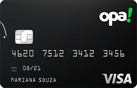 Cartão Pré-Pago Internacional Opa! Visa