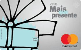 Cartão Pré-Pago Mais Que Presente Mastercard
