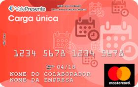 Cartão Pré-Pago Personalizado Carga Única Mastercard