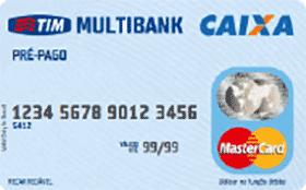 Cartão Pré-pago Pré-pago TIM Multibank Mastercard