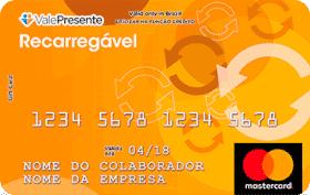 Cartão Pré-Pago Personalizado Recarregável Mastercard