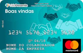 Cartão Pré-Pago Vale Presente Boas-Vindas Mastercard
