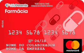 Cartão Pré-Pago Vale Presente Farmácia Mastercard