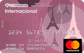 Cartão Pré-Pago Vale Presente Internacional Mastercard