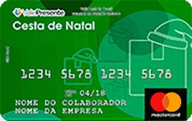 Cartão Pré-Pago Vale Presente Natal Alimentação Mastercard