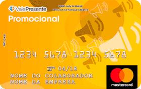 Cartão Pré-Pago Vale Presente Promocional Mastercard