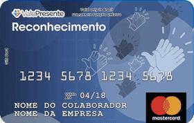 Cartão Pré-Pago Vale Presente Reconhecimento Mastercard