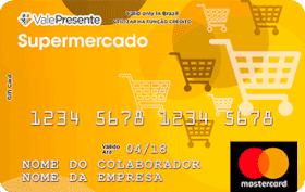 Cartão Pré-Pago Vale Presente Supermercado Mastercard