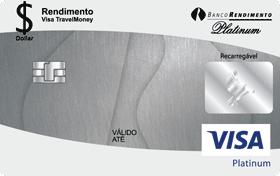 Cartão Pré-Pago Viagem Rendimento Visa TravelMoney Platinum
