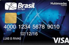Cartão Pré-Pago VISA TravelMoney Empresarial
