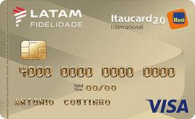 Cratão de Crédito LATAM Itaucard 2.0 Internacional Visa