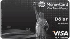 Cartão MoneyCard Banco Paulista Visa TravelMoney Platinum